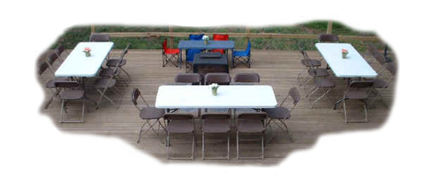 Adult Tables & Chairs for Kids Parties