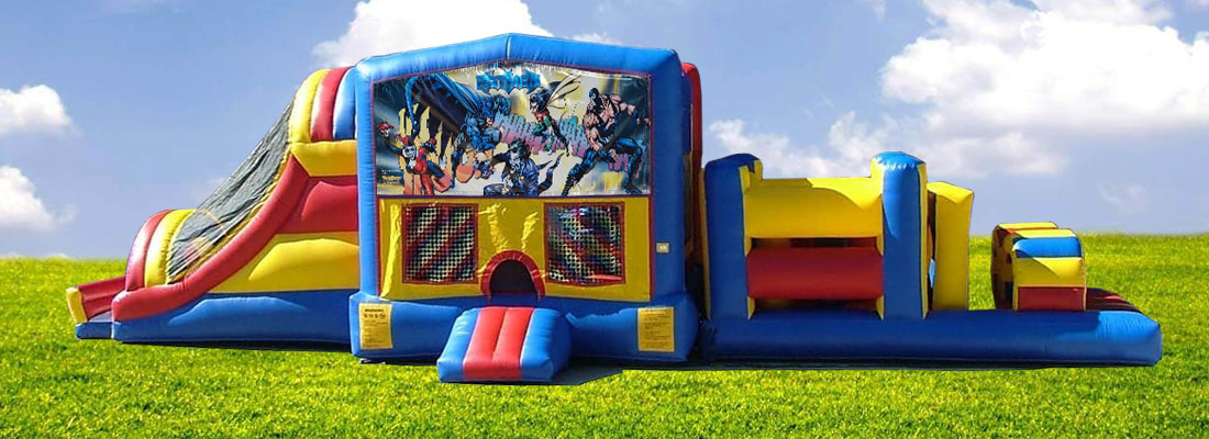 Batman Themed 45 Foot Obstacle Course