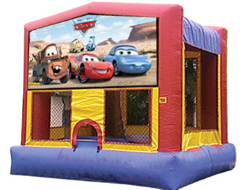 Cars Banner Theme for Bounce Houses