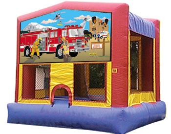 Firemen Banner Theme for Bounce Houses