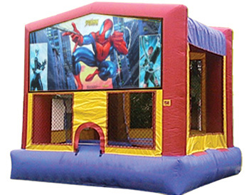 Spiderman Banner Theme for Bounce Houses