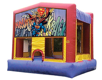 Superman Banner Theme for Bounce Houses